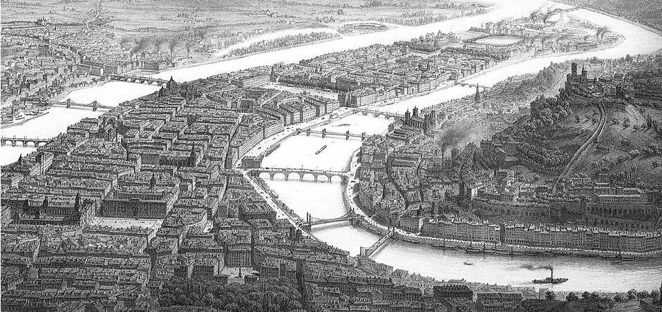 Vue de Lyon 19ème